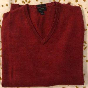 JCrew Slim Merino V-neck Sweater - M